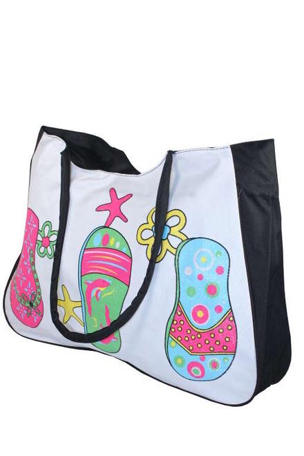 Textilní plážová kabelka černá  5f899f93f9