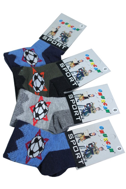 Little Football Socks khaki velikost: 0-1 rok