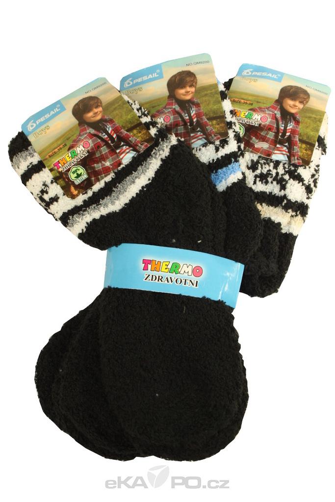 Dětské chlupaté ponožky 3 páry levné prádlo  77170293d1