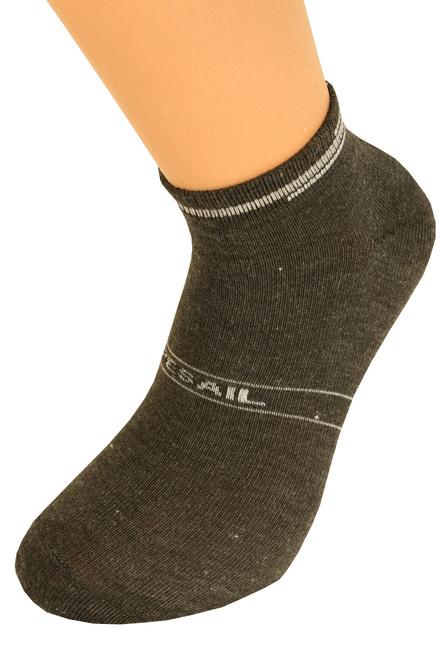 Pánské kotníčkové ponožky 3 páry levné prádlo  98f2459fe3
