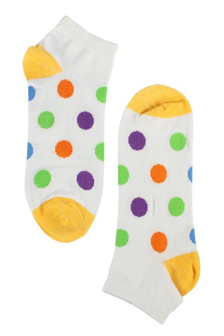 7055db68ba0 Happy ponožky - barevné puntíky levné prádlo