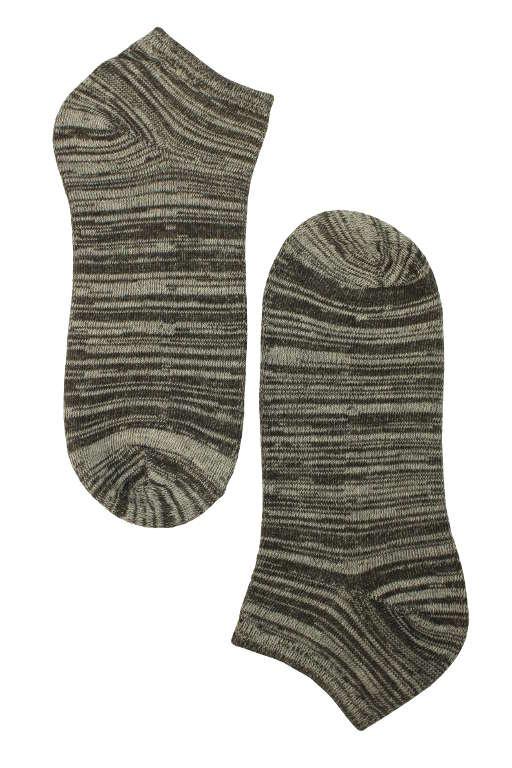 Dámské žíhané bavlněné ponožky - 3páry levné prádlo  cace0d6f9b