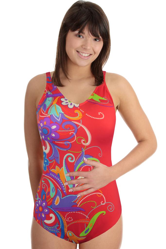 Ibiza Fresh dámské jednodílné plavky světle červená velikost  3XL ... 23e243cd26