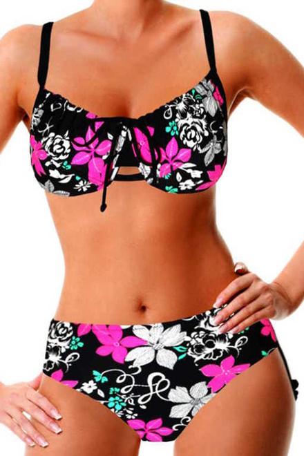 879605c1a48 Tifany Beach nevyztužené plavky s kosticí černá velikost  XXL ...