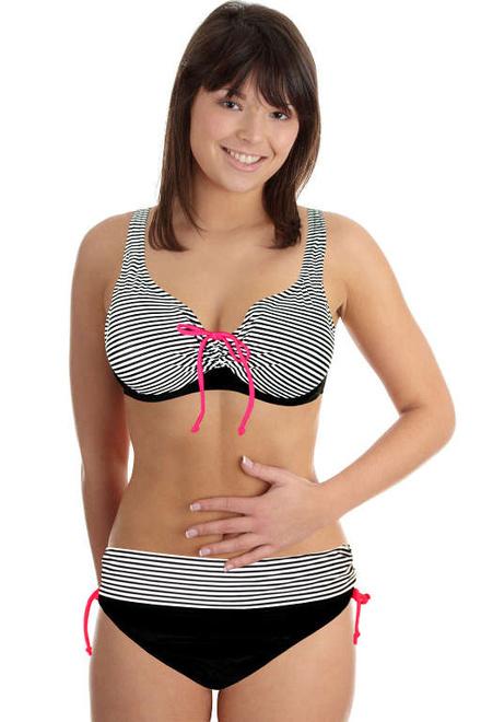 Pauline Black dvojdílné plavky s kosticí levné prádlo  a26ca2528a