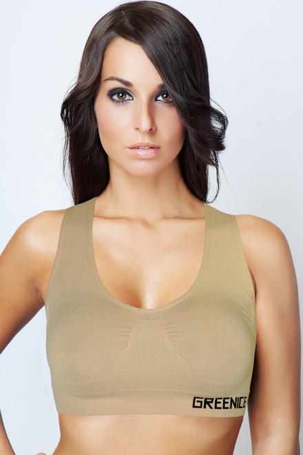 7a69c1dc5 Sarina G&N bezešvá podprsenka béžová velikost: XL | levné prádlo ...