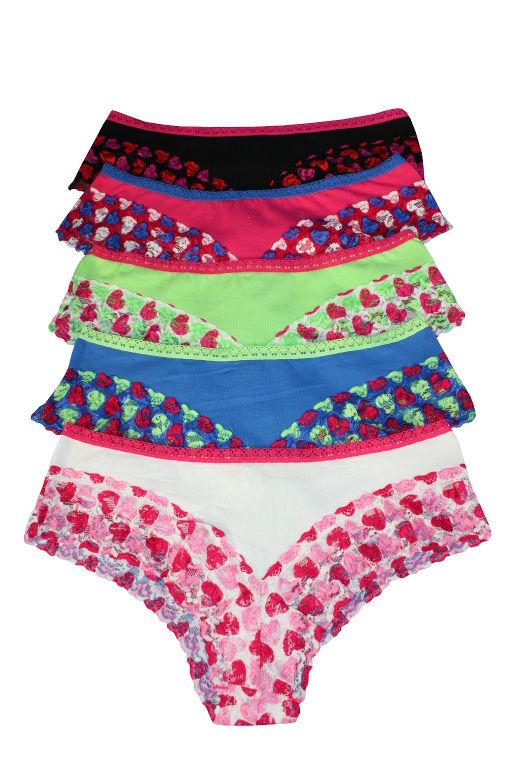Tayler panty kalhotky s krajkou - 3ks L MIX