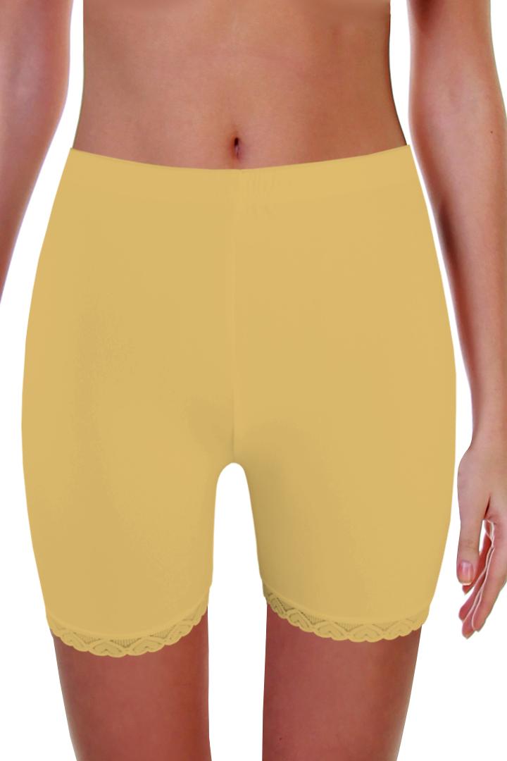 Simon krajkové kalhotky s nohavičkou M béžová