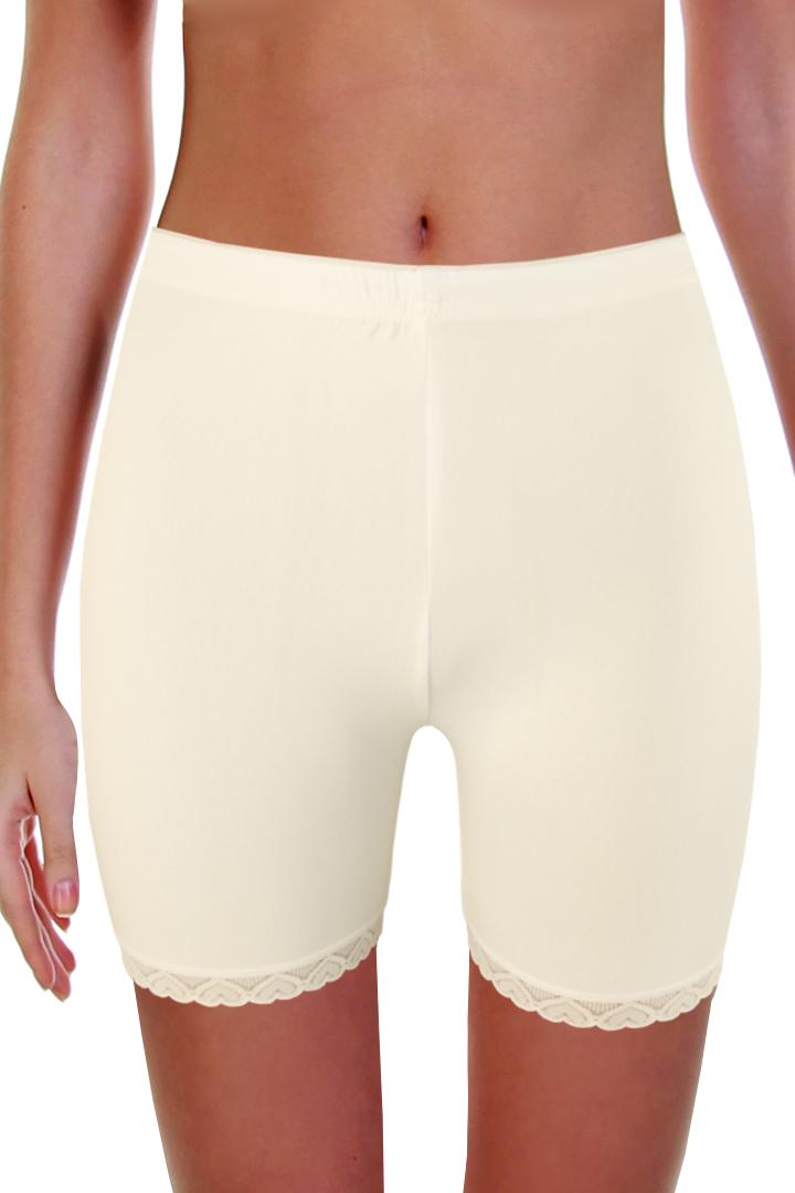 Simon krajkové kalhotky s nohavičkou M bílá
