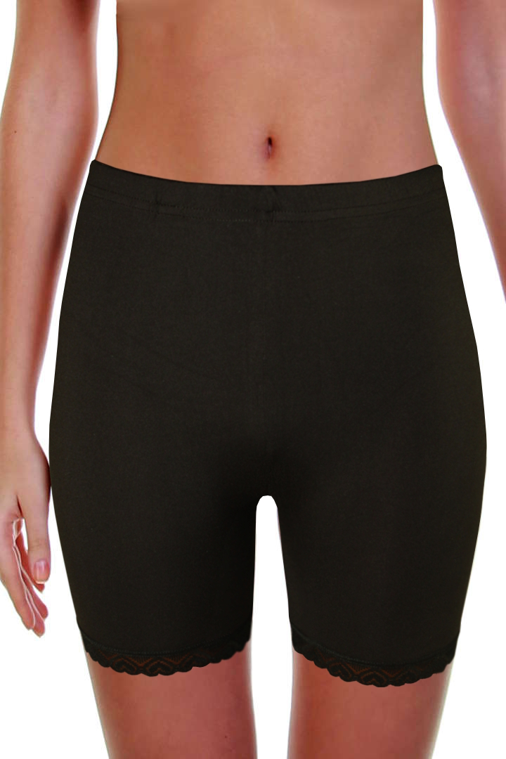 Simon krajkové kalhotky s nohavičkou černá M