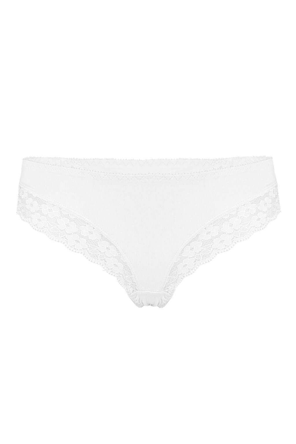 Rio Brazils krajkové kalhotky - brazilky M bílá