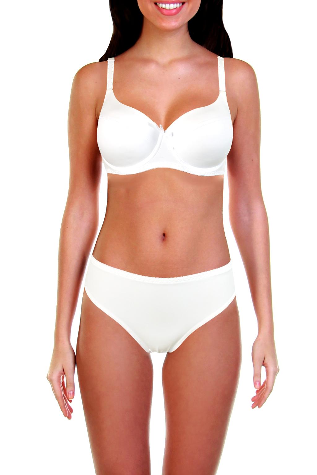 Bibiona komplet podprsenka a kalhotky 80D bílá