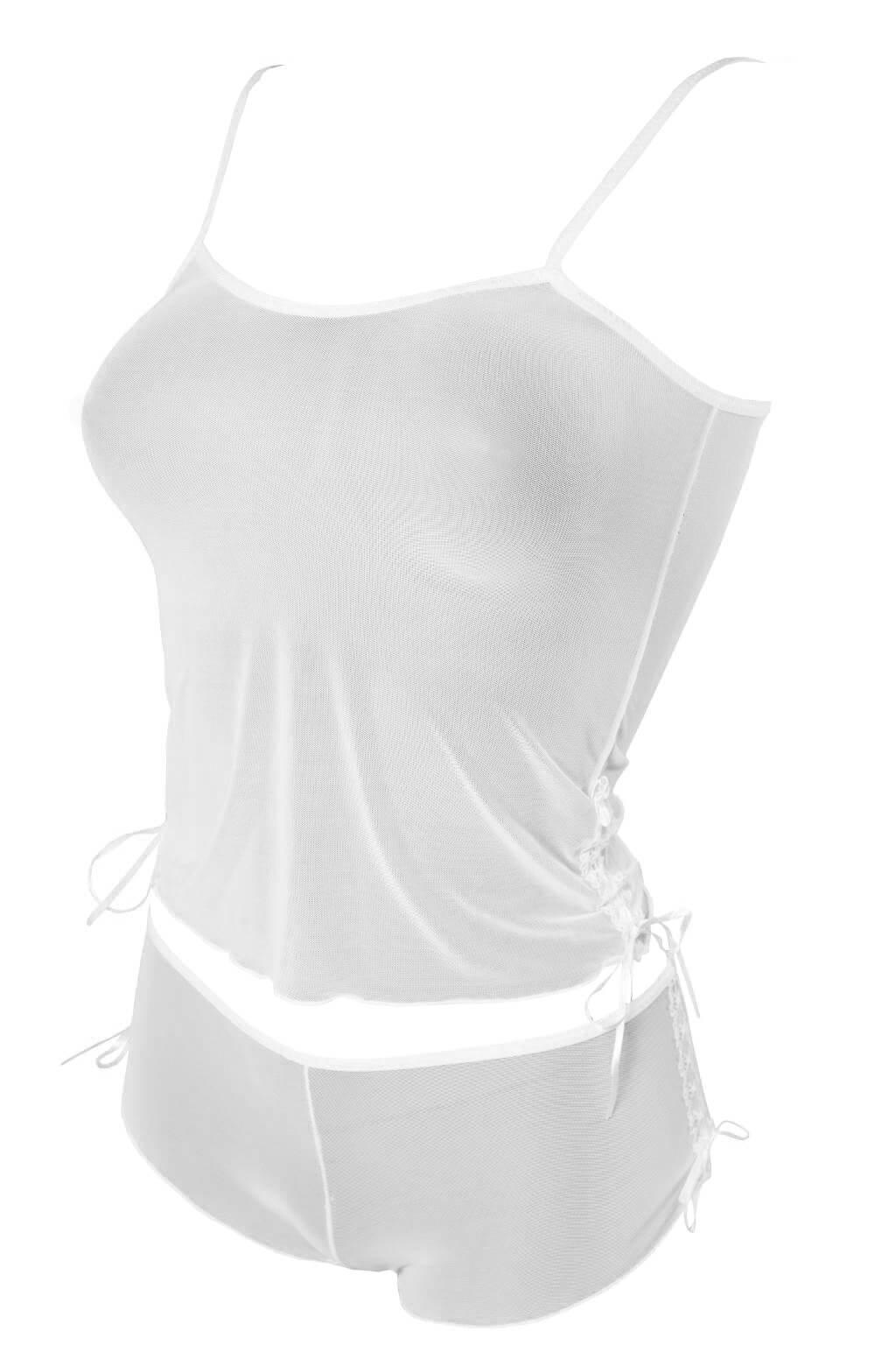 Selma komplet podprsenka + kalhotky M bílá