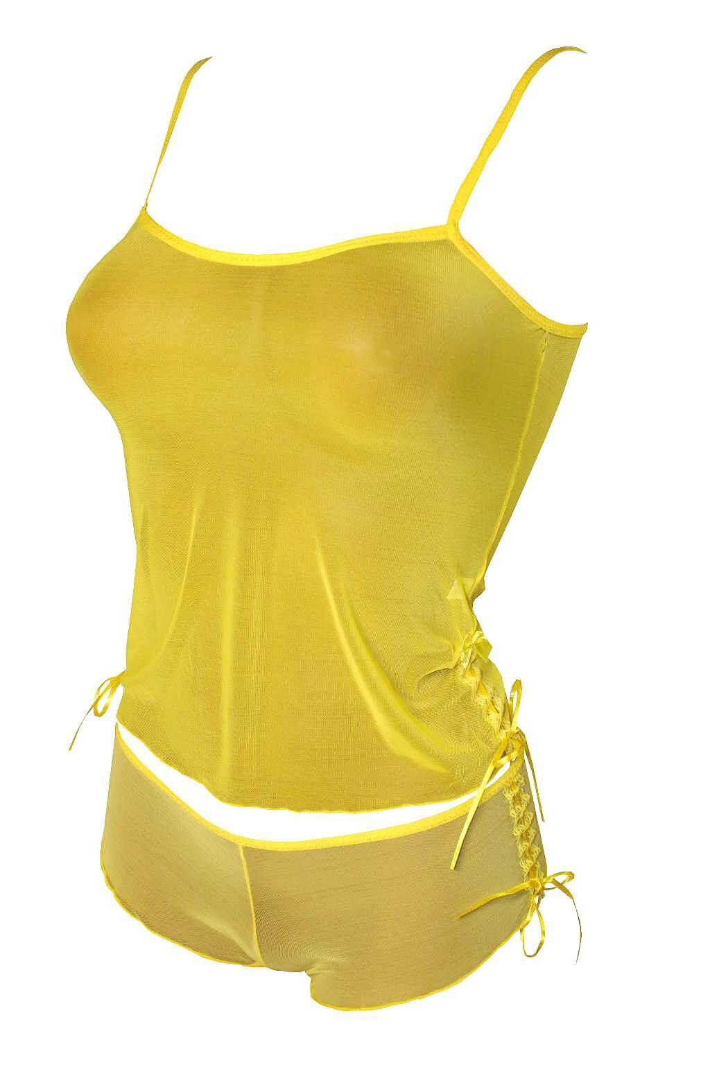 Selma komplet podprsenka + kalhotky M žlutá