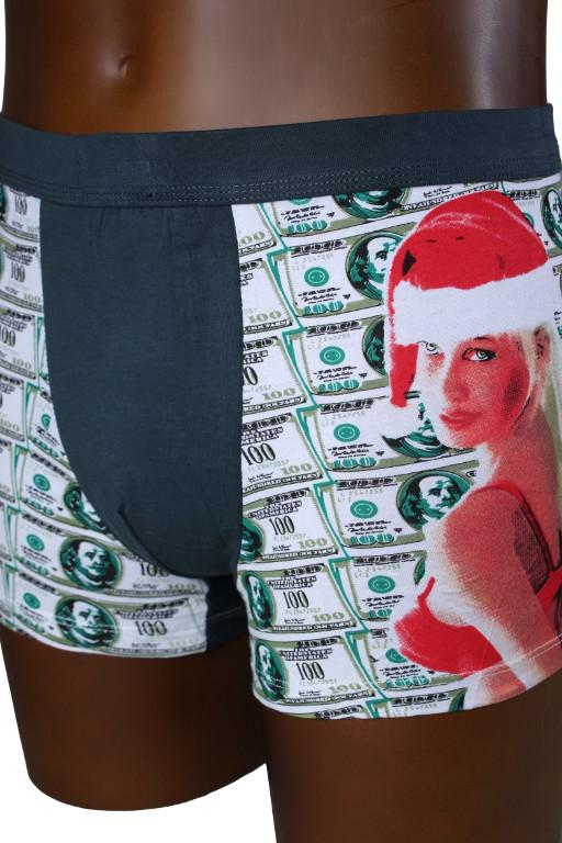 Vánoční boxerky S tmavě šedá