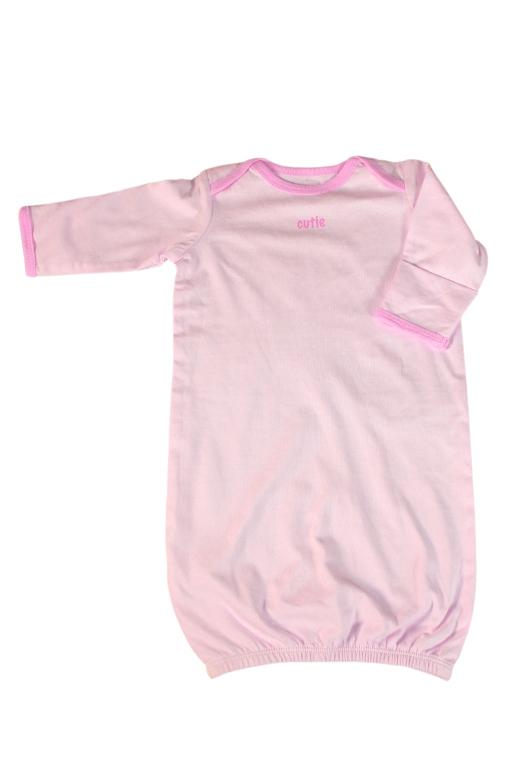 Majdalenka dívčí noční košile 0-3 měs světle růžová