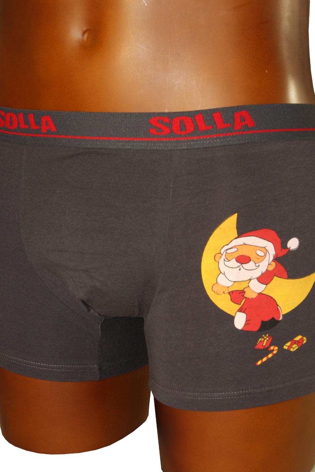 Spící Santa boxerky 13-14 let tmavě šedá