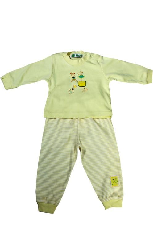 Paollis dívčí pyžamko 0-1 rok 6-9 měs žlutá