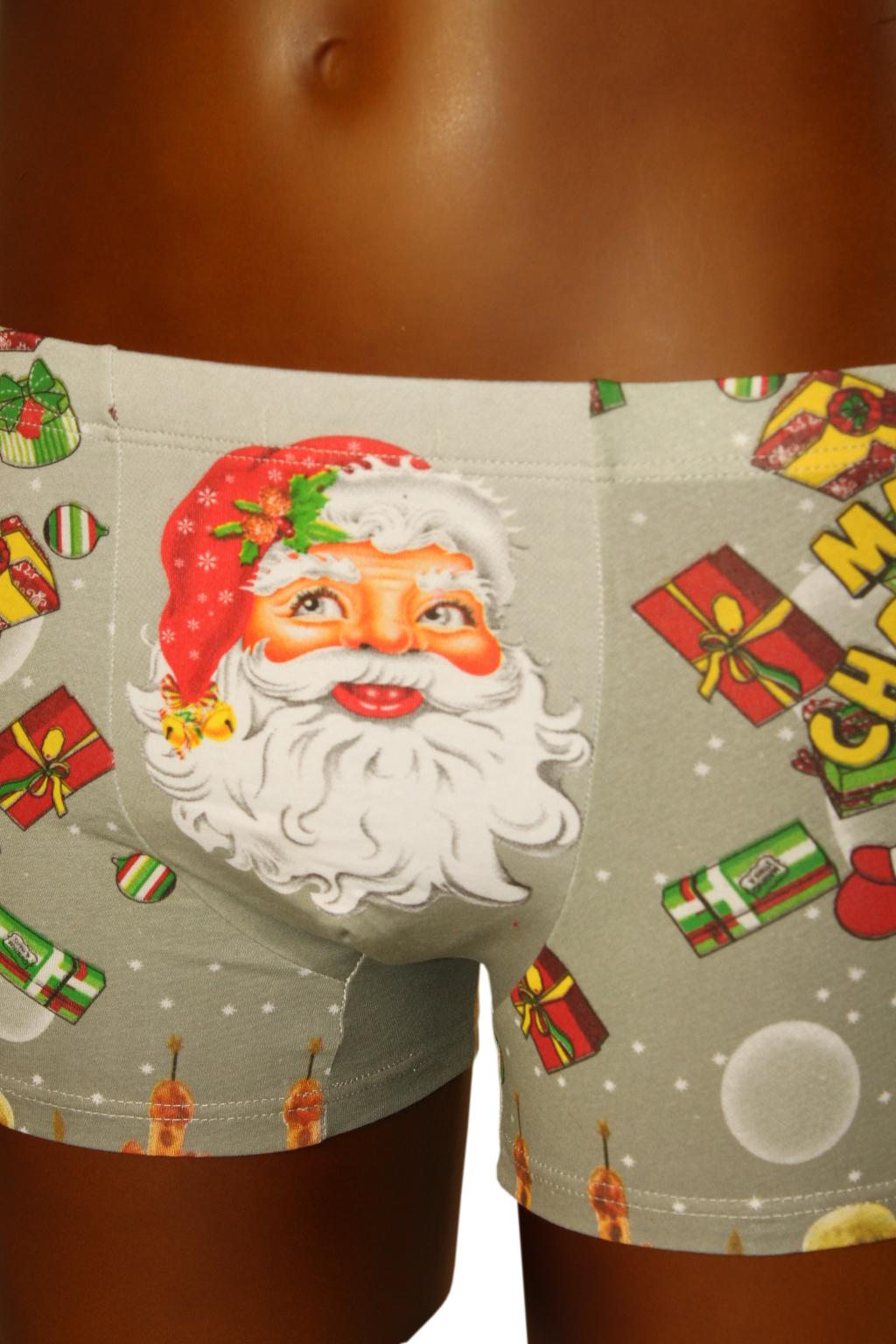Boxerky Merry Christmas 13-14 let světle šedá