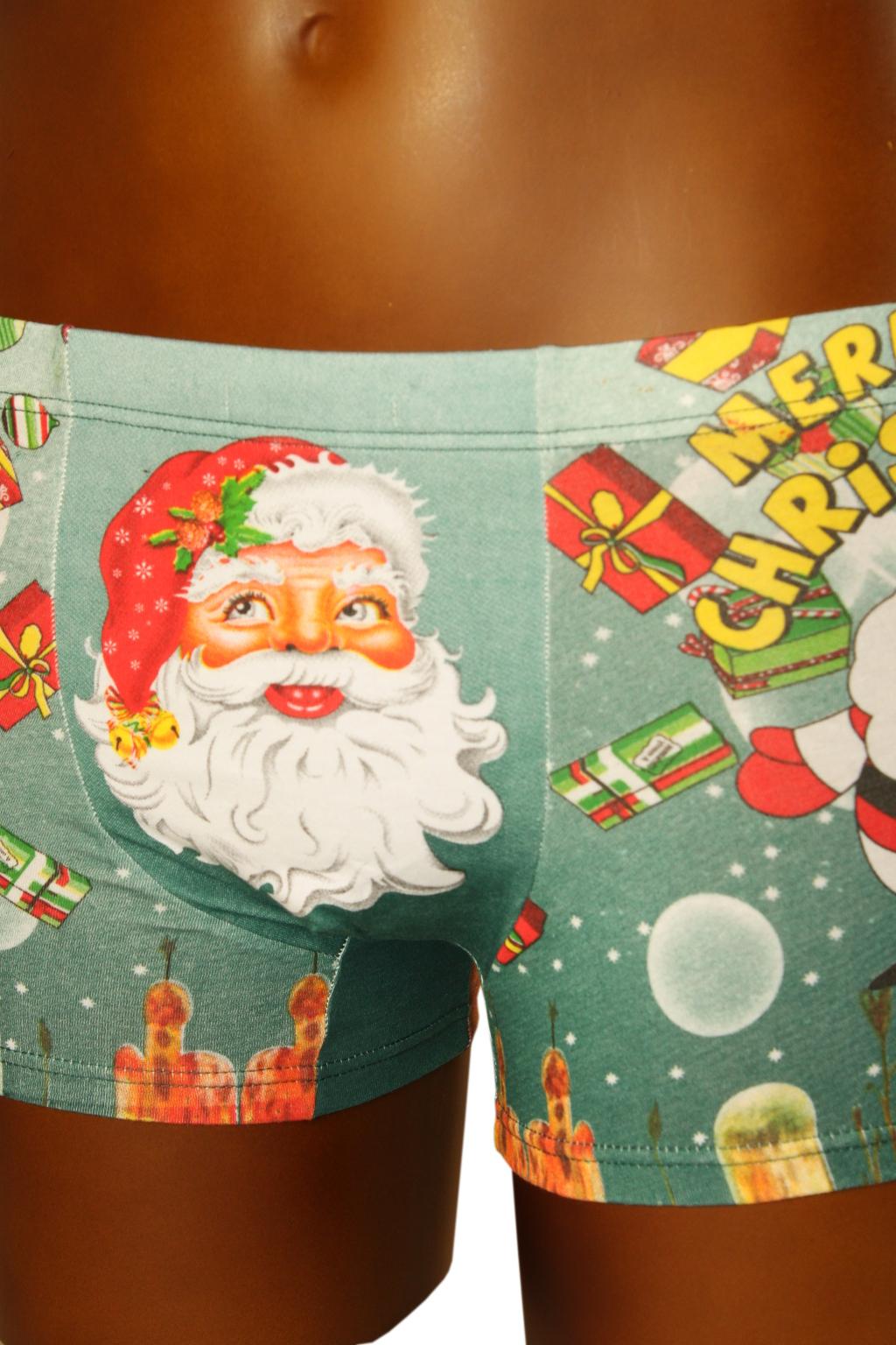 Boxerky Merry Christmas 11-12 let zelená
