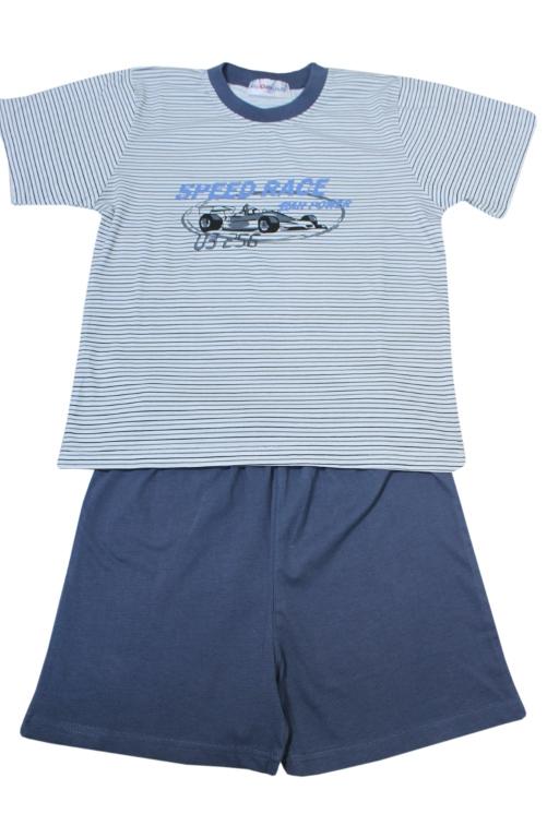 Speed Race pyžamo kluk 7-8 let šedá