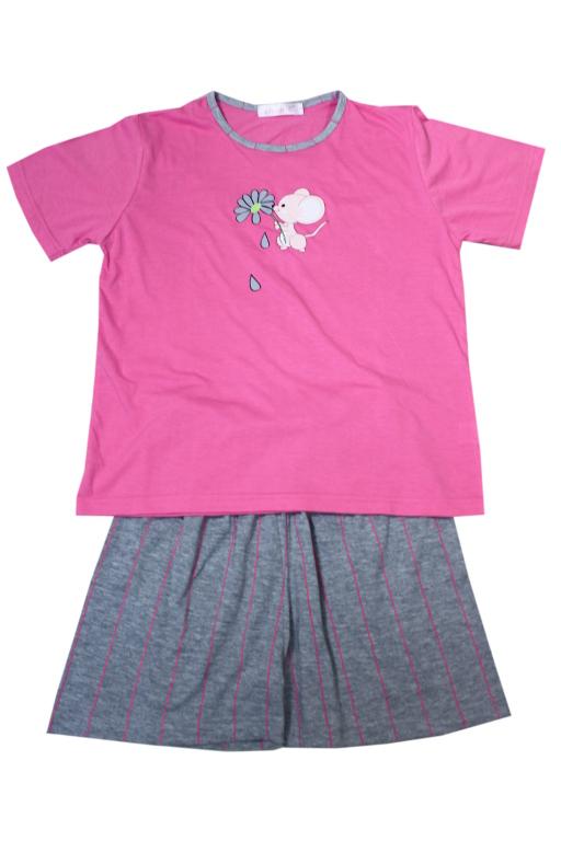 Aneta - dívčí pyžamo 13-14 let růžová