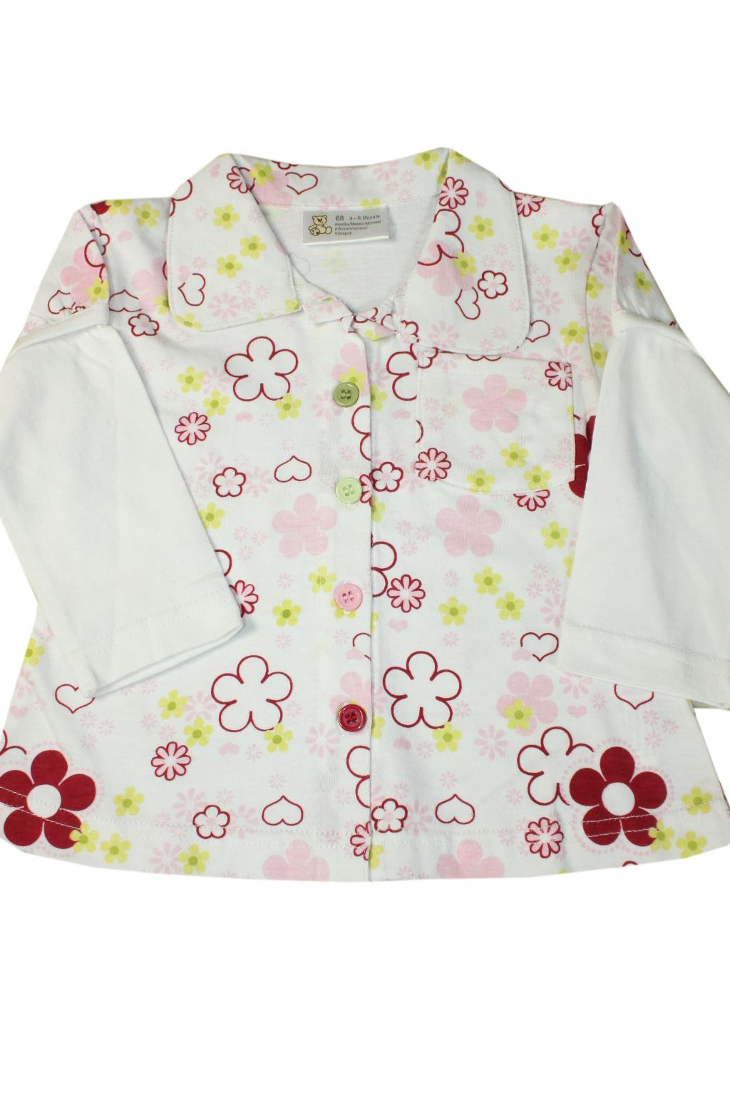 Floe dívčí rozpínací bavlněné triko 1 rok bílá