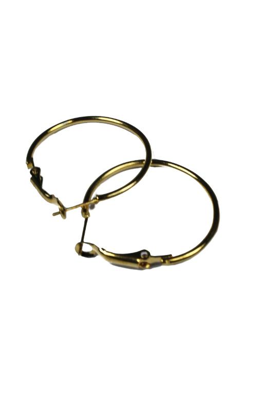 Zlaté kruhy 3 cm zlatá