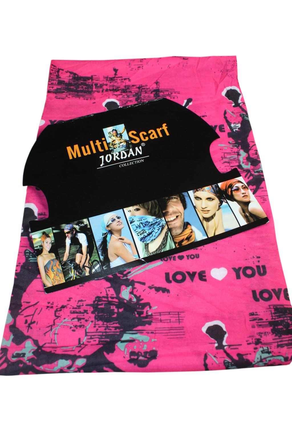 Multiscarf - multifunkční šátek růžová