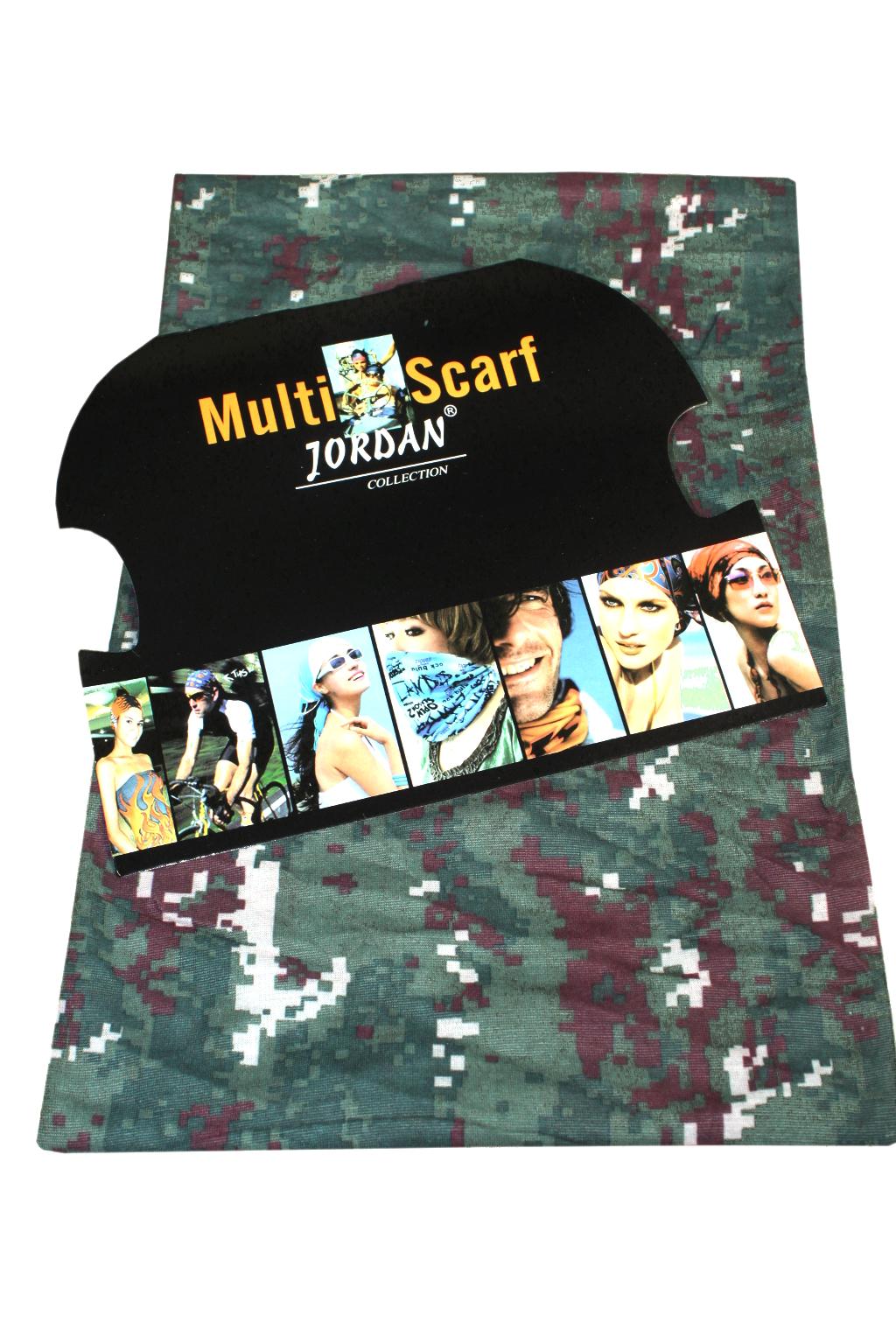 Značkový multifunkční šátek khaki