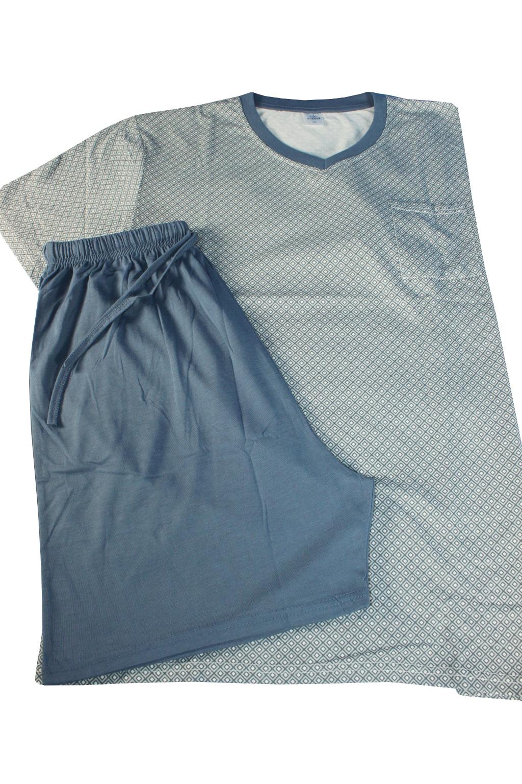 Javon pánské pyžamo XL šedomodrá