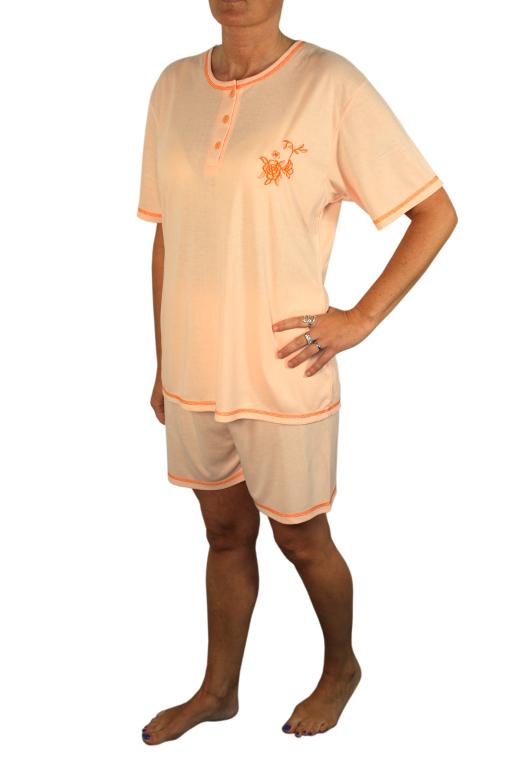 Ambroza dámské pyžamo XXL světle oranžová