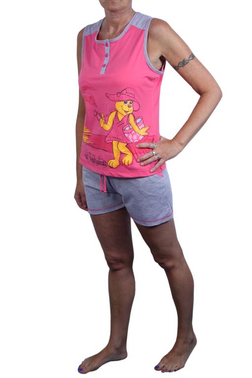 Sonja dámské pyžamo L růžová