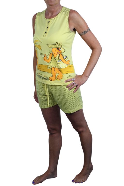 Sonja dámské pyžamo XL žlutá