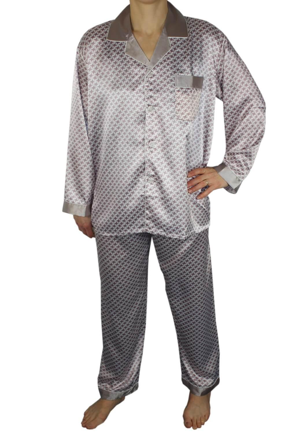 Philipe pánské saténové pyžamo XXL světle fialová