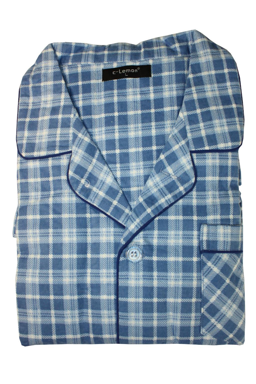 Regan teplé pánské pyžamo M modrá