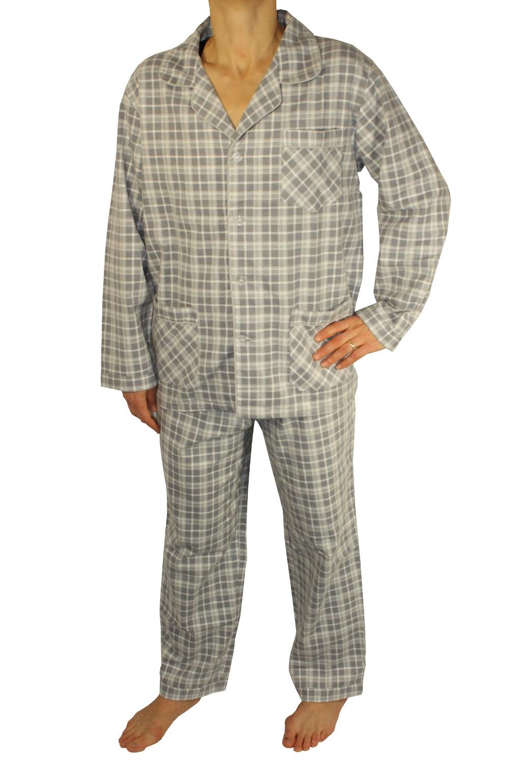Regan teplé pánské pyžamo L šedá