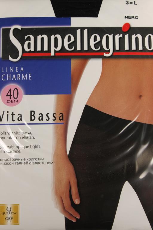 Linea Charme Vita Bassa - punčochové kalhoty - 40 DEN L černá