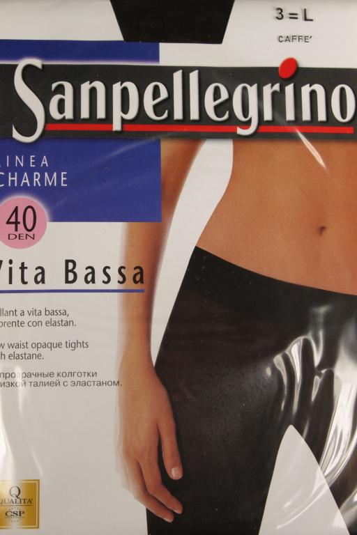 Linea Charme Vita Bassa - punčochové kalhoty - 40 DEN L tmavě hnědá