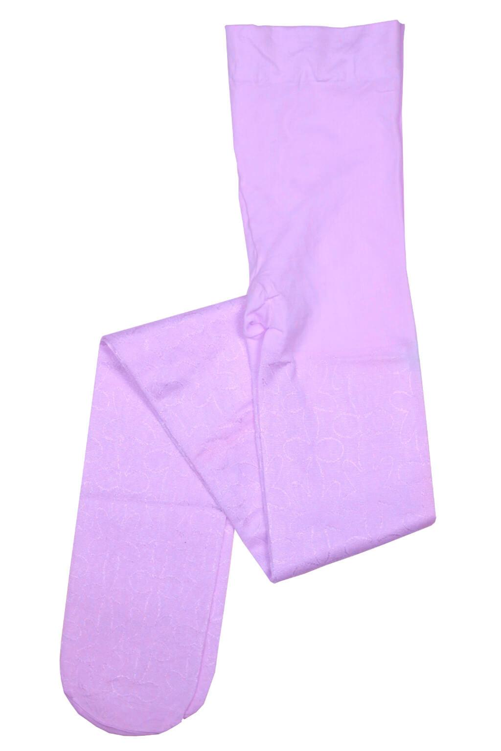 Dívčí silonové punčochy - 40 denů 7-8 let fialová