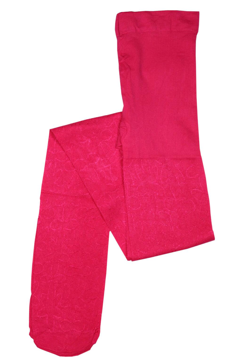 Dívčí silonové punčochy - 40 denů 7-8 let tmavě růžová