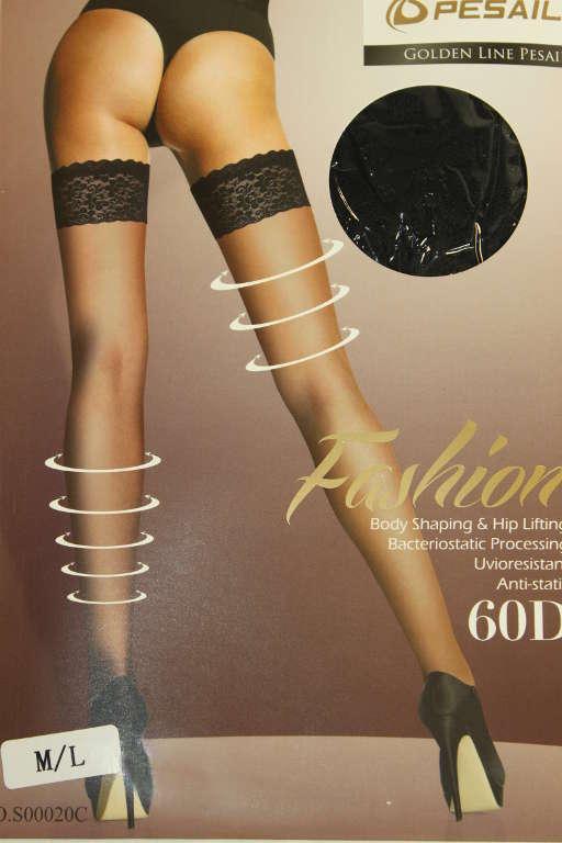 GoldenLine samodržící punčochy 40DEN XL černá