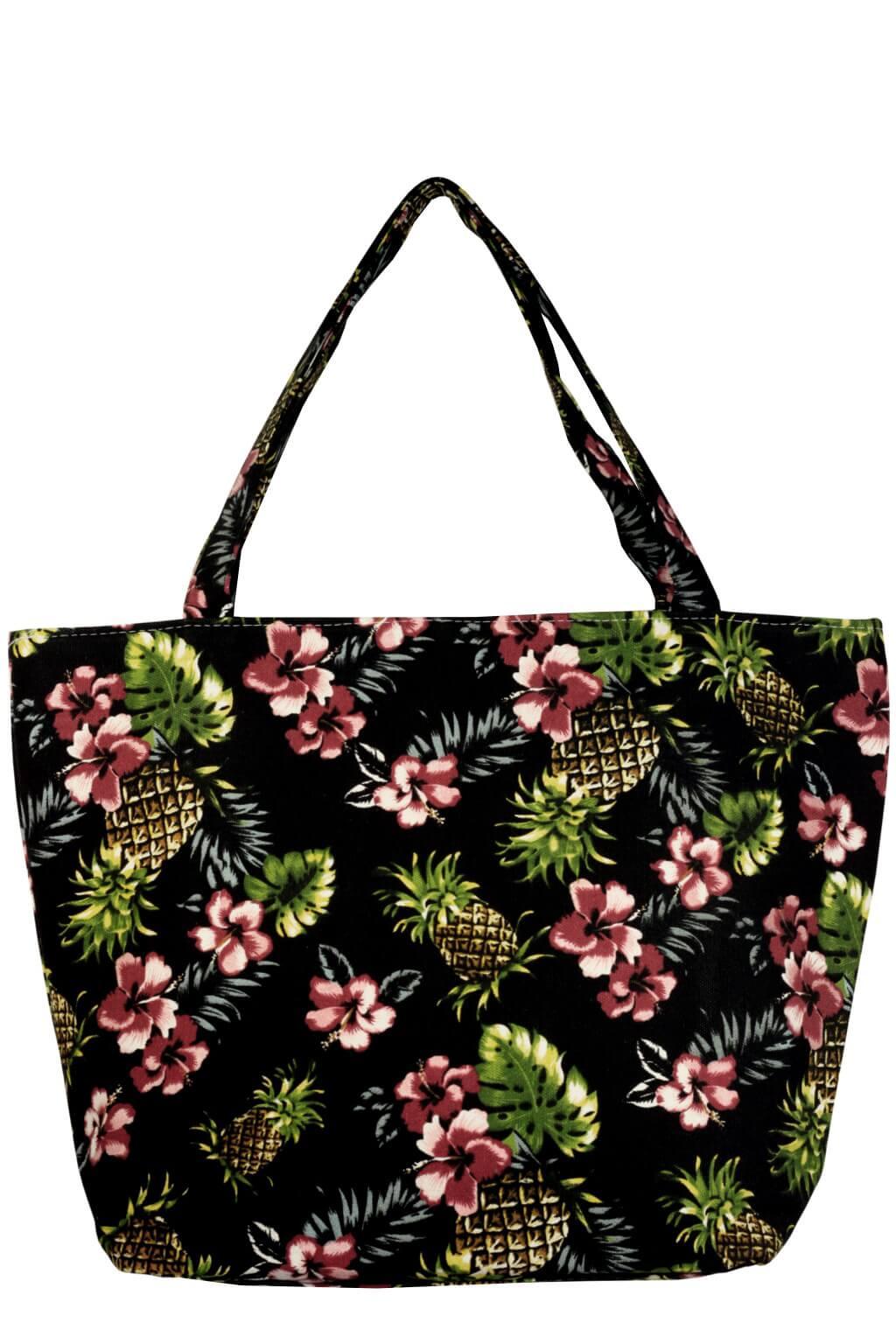 4ac88111f7 Cica plážová taška s ananasy černá