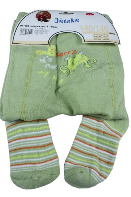 Frog punčošky 7-8 let světle zelená