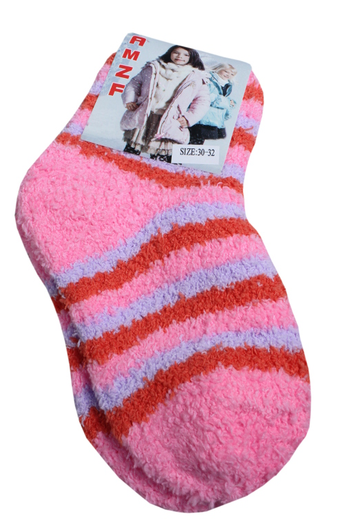 AMZF dětské žinilkové ponožky 7-8 let růžová