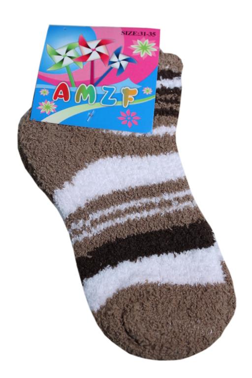 Žinilkové dětské ponožky 1-2 roky hnědá