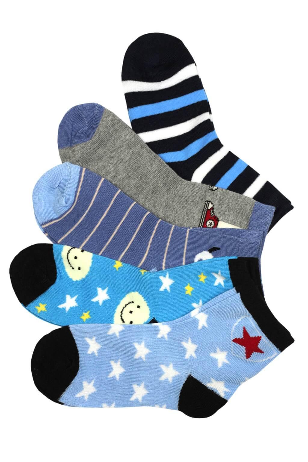 Kids - dětské ponožky 3v1 3-4 roky modrá