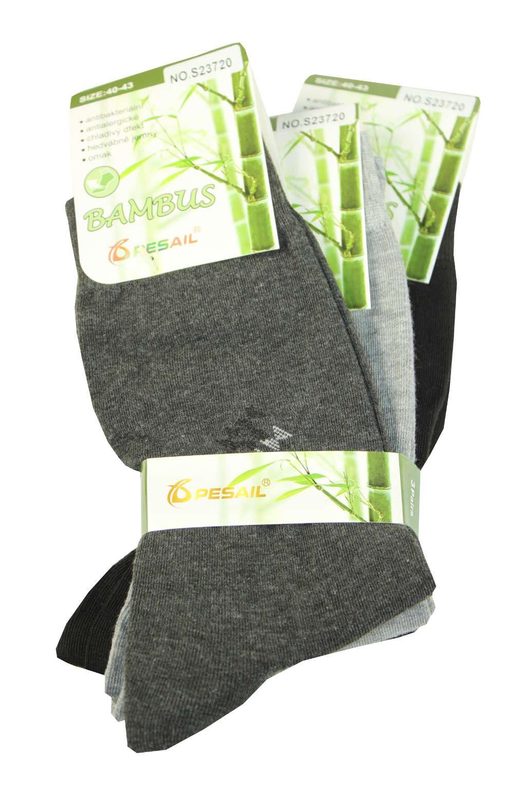 Bambusové pánské ponožky - 3bal 40-43 MIX