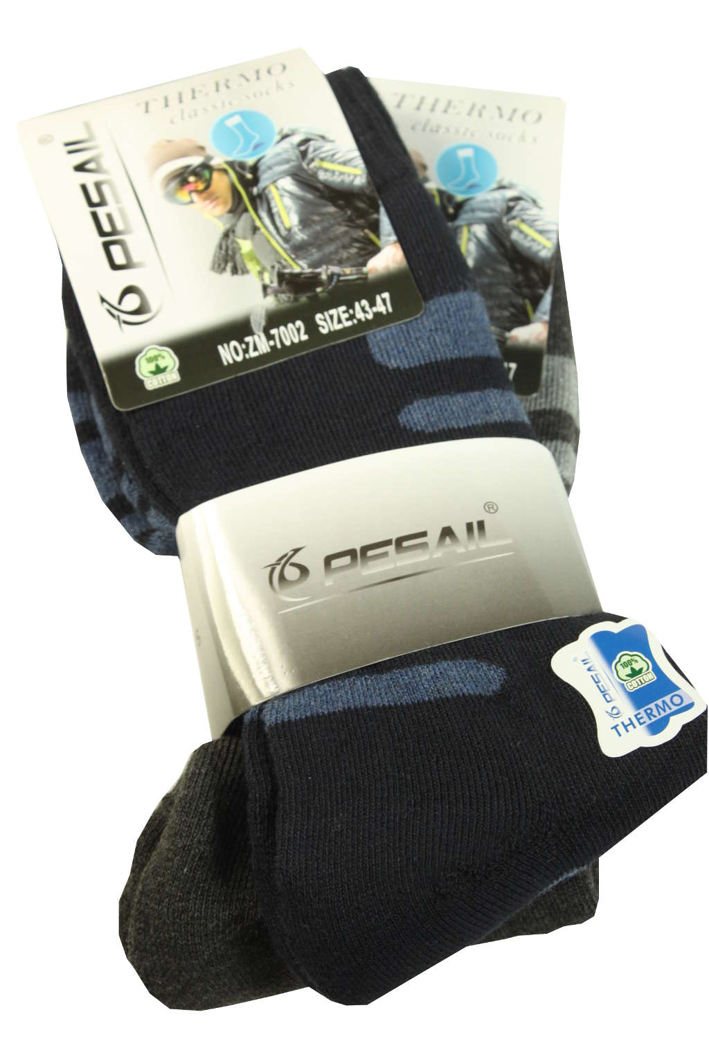 Zimní pánské ponožky z bavlny - 2bal 43-47 MIX
