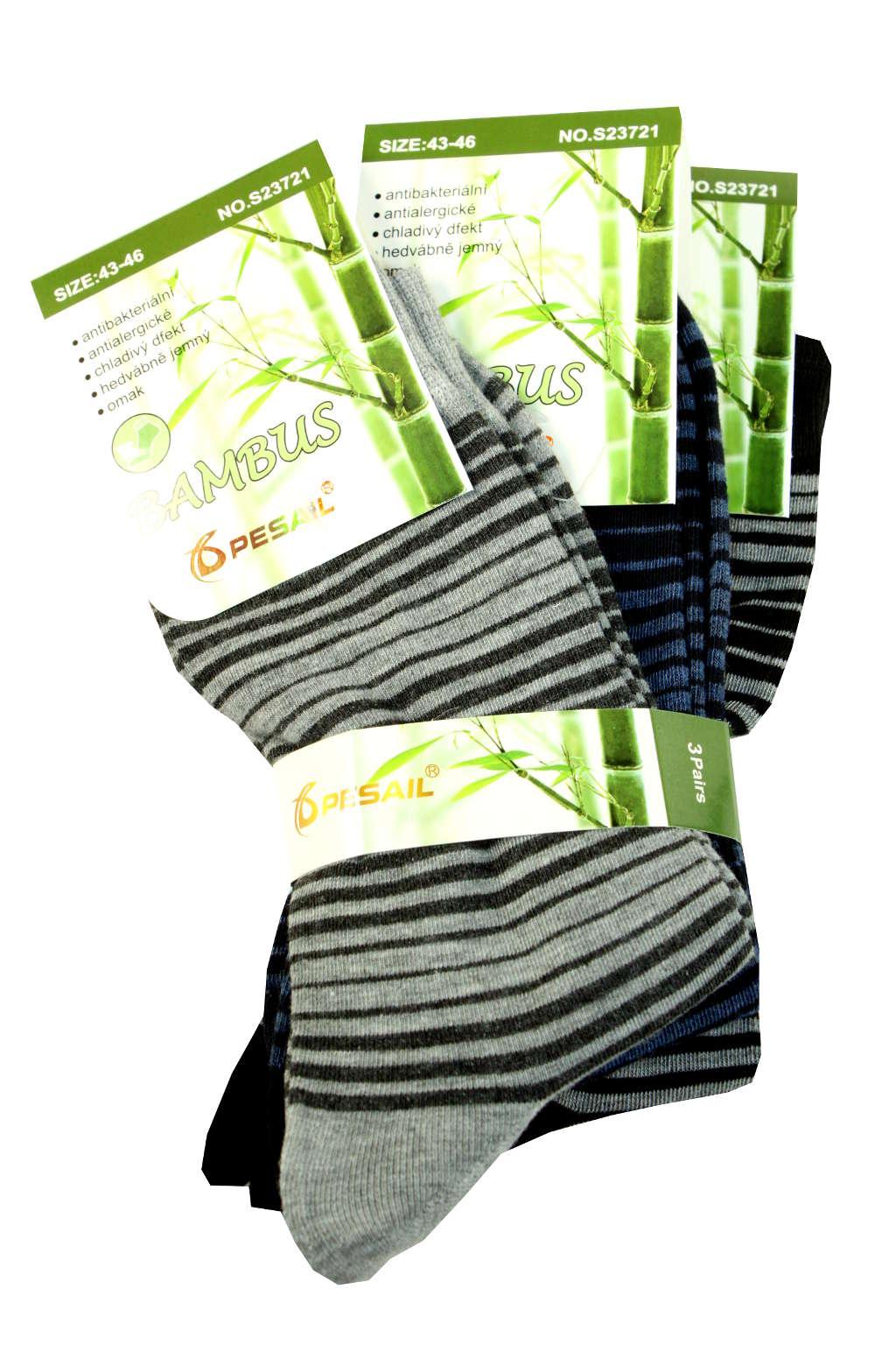 Bambus pánské ponožky - 3pack 43-46 MIX